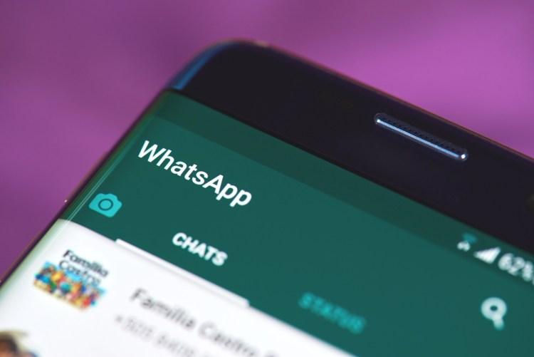 Whatsapp chat open on screen.