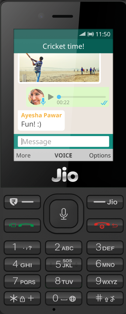 WhatsApp launches for KaiOS-powered JioPhone devices in