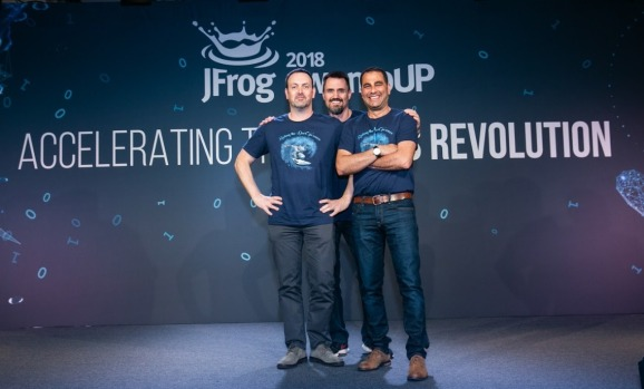 JFrog: Yoav Landman (CTO), Fred Simon (Chief Architect), Shlomi Ben Haim (CEO).