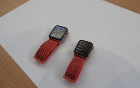 Apple Watch Series 4 has a bigger screen.