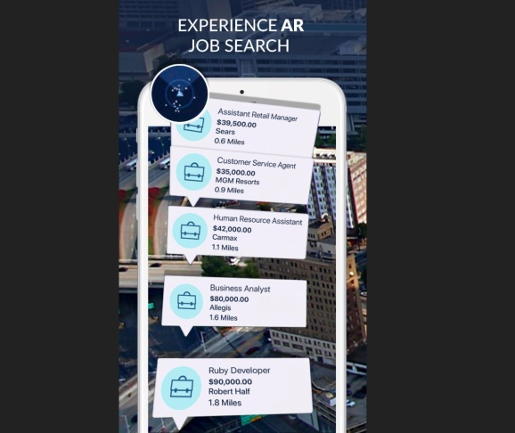 Augmented reality job search