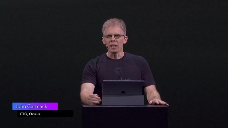 John Carmack believes social VR will help people defy distances.