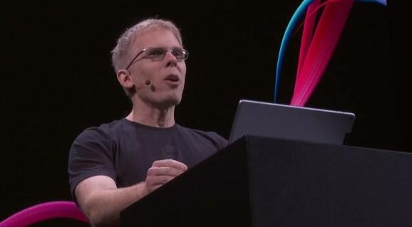 John Carmack, CTO of Oculus, at Oculus Connect 5.