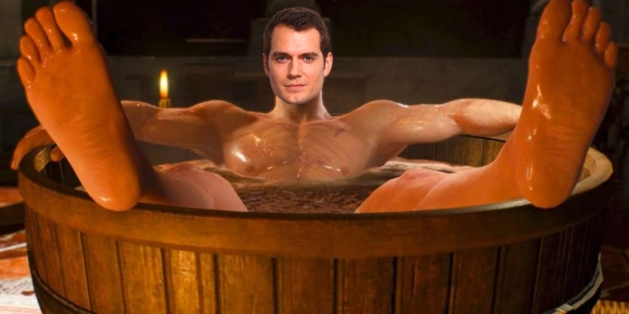 Henry Cavill is washing up for his new role.