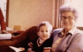 John DenBoer and his grandmother.