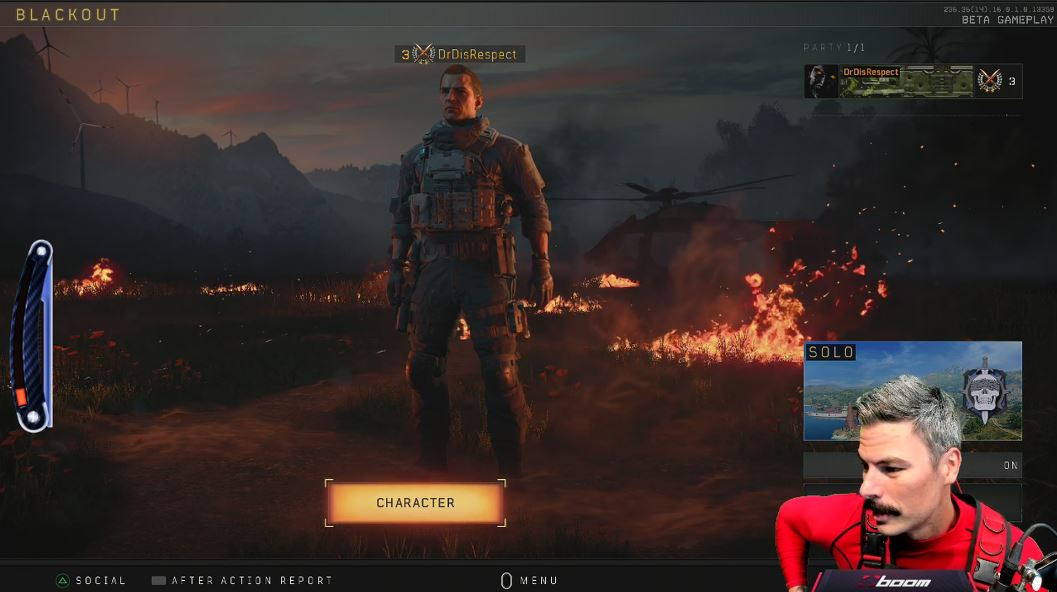 DrDisRespect broke character to explain that someone has fired a weapon at his house for a second day in a row.