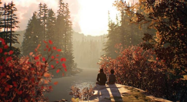 Enjoying the outdoors in Life is Strange 2.