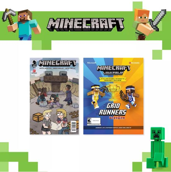 Minecraft and Target parties feature a scavenger hunt and details about Grid Runners.