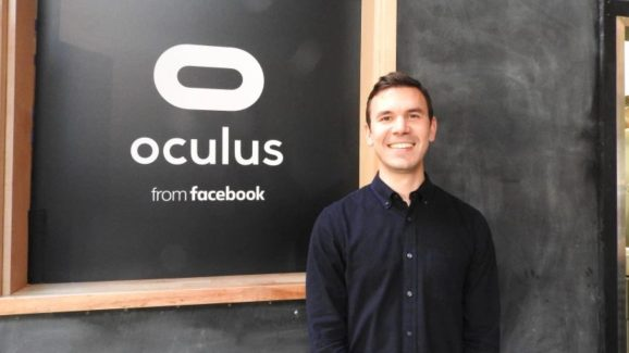 Nate Mitchell, cofounder of Oculus, at an Oculus gaming preview event.