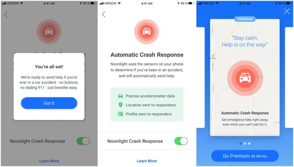 Noonlight's updated app calls emergency services when you suffer a car crash