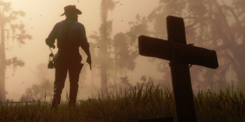 Nope. Not dead yet. A scene from Red Dead Redemption 2.