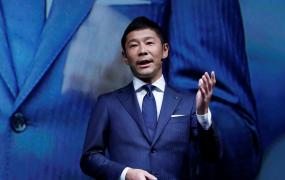 Yusaku Maezawa, the chief executive of Zozo, which operates Japan's popular fashion shopping site Zozotown and is officially called Start Today Co, speaks at an event launching the debut of its formal apparel items, in Tokyo, Japan, July 3, 2018.