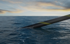 3D rendering of subsea cable installation
