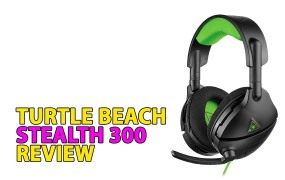 The Stealth 300 from Turtle Beach. It has a wire, but it needs battery power to work.
