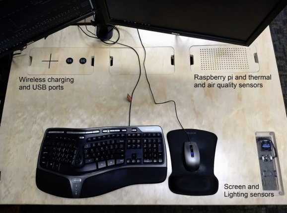 The components of a smart desk.