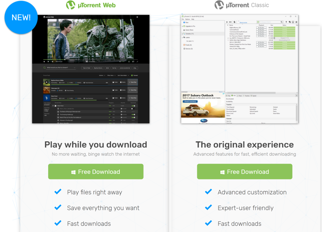 BitTorrent launches uTorrent Web to let you download and play files