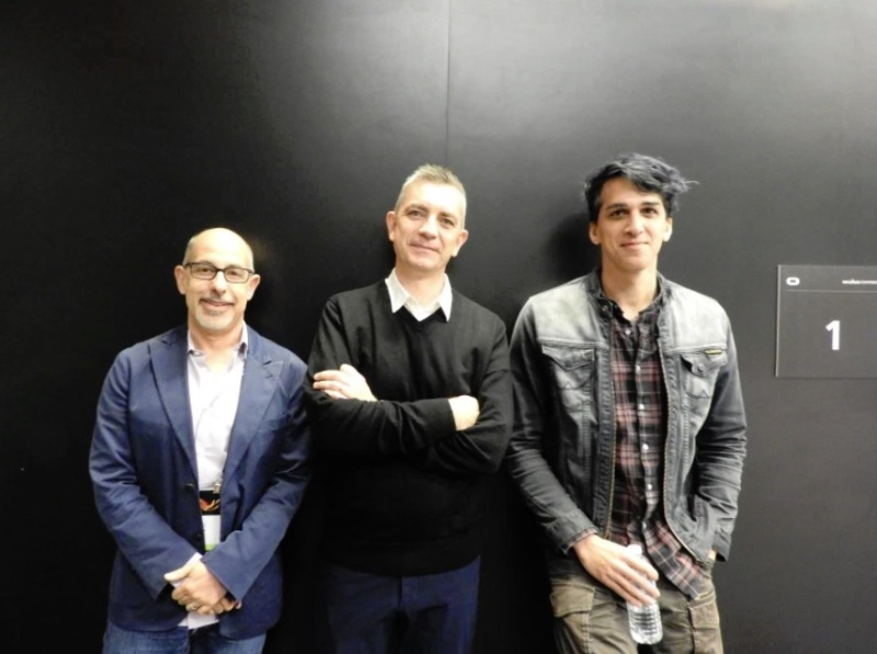 Left to right: David Goyer, Colum Slevin, and