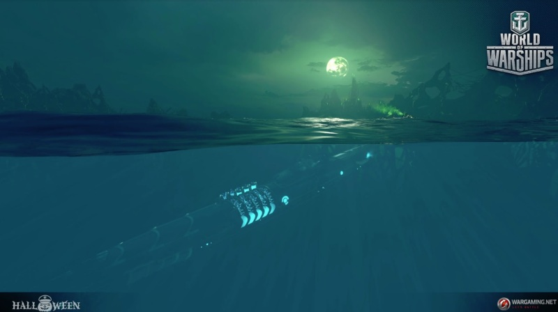The underwater view for subs in World of Warships.