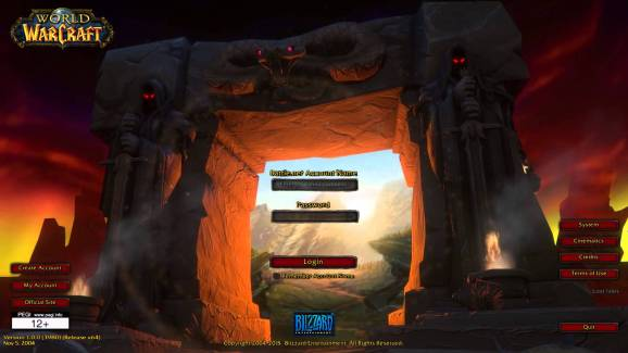 WoW's original login screen.