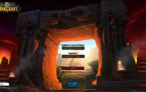WoW's original login screen.