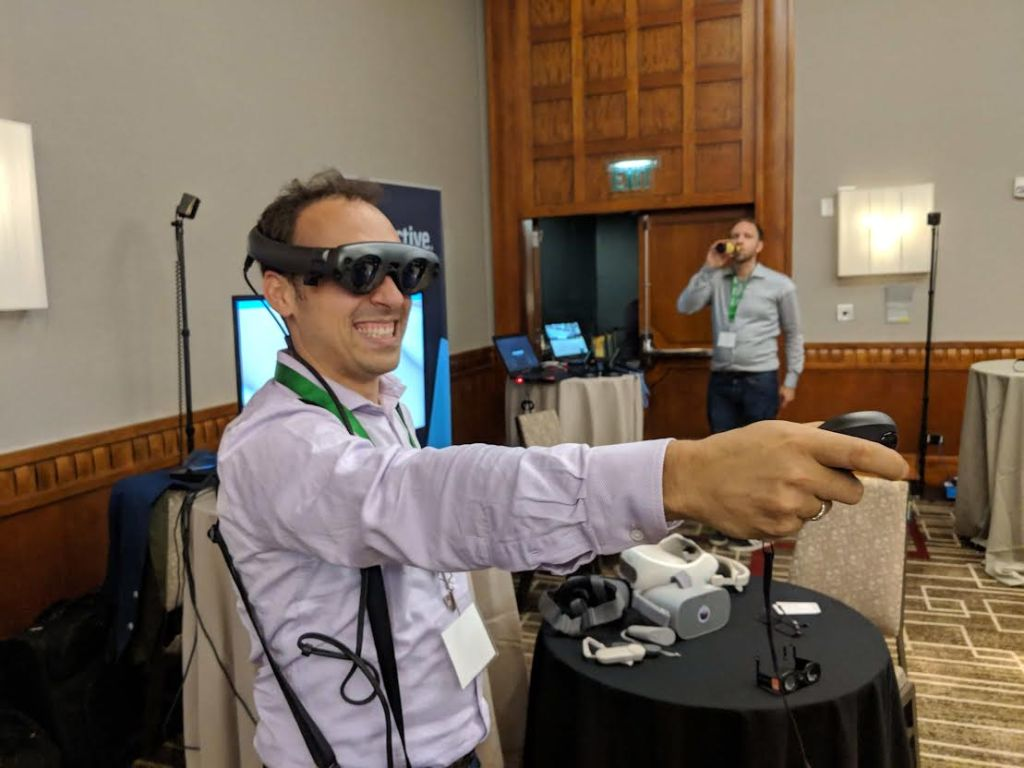 Magic Leap One showcased at XRSWeek. Photo credit: