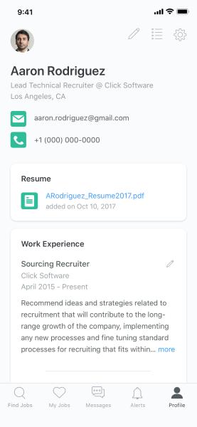 ZipRecruiter  39 s Job Seeker Profiles