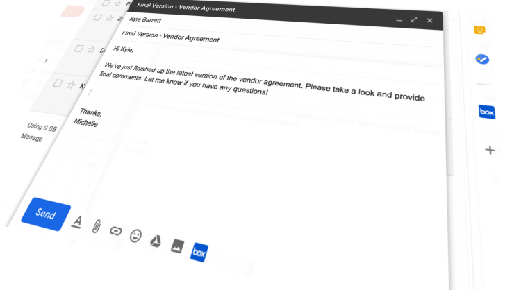 Box: Compose actions in Gmail add-ons