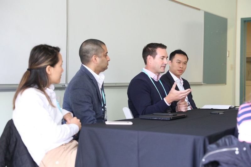 Morgan Lai, Investor, Foundation Capital; Pavan Arora, Chief AI Officer, Aramark; Jay Allardyce, Head of Corporate Development & Partnerships, Uptake; Peter Chiang, VP of Global Digital Strategy and Transformation, MetLife at VB Summit 2018