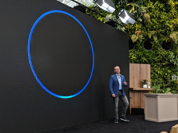Amazon VP of devices David Limp at a Sept. 20, 2018 event to announce the release of near a dozen Echo devices at Amazon headquarters in Seattle, Washington