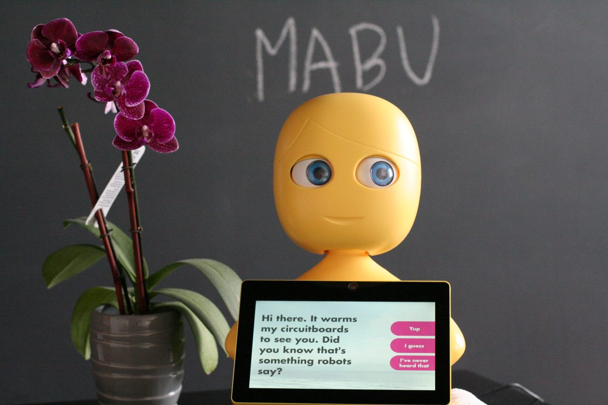 Mabu, a robot helping patients with congestive heart failure, is working with the American Heart Association