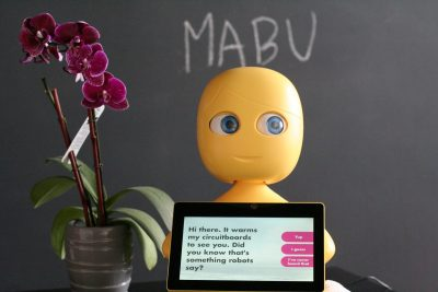 Mabu, a robot helping patients...