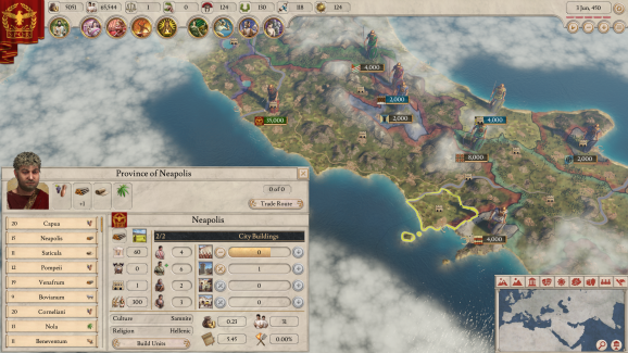 Imperator: Rome is Paradox's first game with its improved development engine.