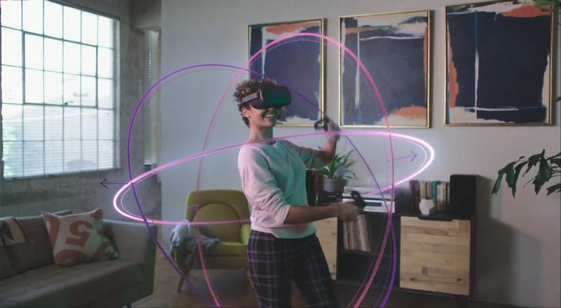 """Oculus Quest fine print: """"Neon circles not included."""""""
