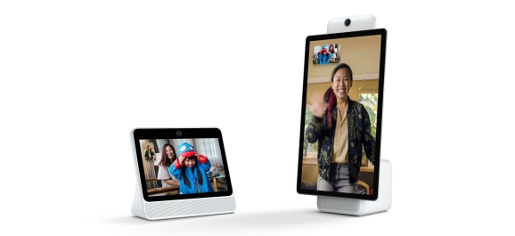 The 10-inch Portal (left) and 15-inch Portal+ (right) by Facebook start shipping in November