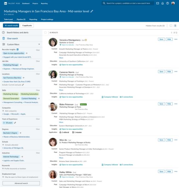 LinkedIn Talent Hub