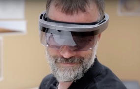 A NASA video appears to show a prototype version of Microsoft's HoloLens.