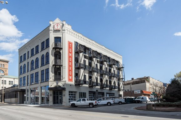 The Tomorrow Building, a coliving building in Chattanooga's Innovation District