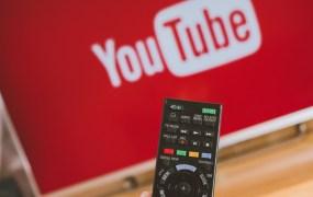 YouTube app on Sony smart TV.