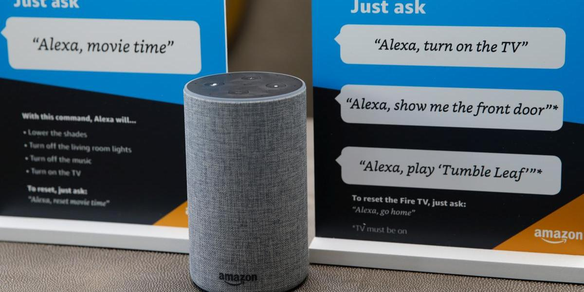 Prompts on how to use Amazon's Alexa personal assistant are seen in an Amazon 'experience centre' in Vallejo, California, U.S., May 8, 2018.