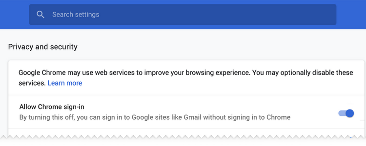Chrome 70 arrives with option to disable linked sign-ins