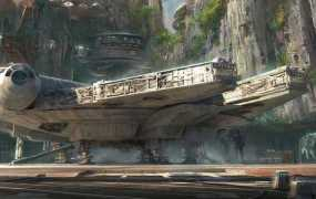 The Falcon itself will be parked outside of the ride.