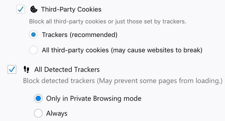 Firefox 63 arrives with Enhanced Tracking Protection, search