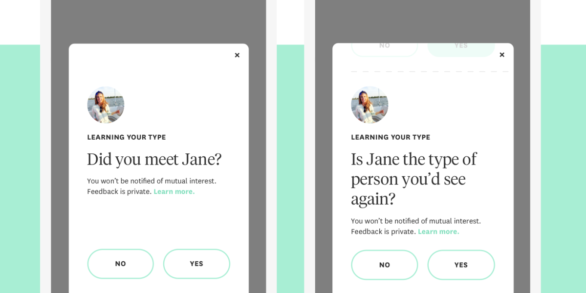 Hinge's We Met feature asks users to privately share how a date went.