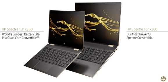 HP has new 13-inch and 15-inch Spectre laptops.