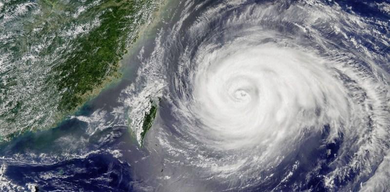 Hurricane Maria hitting Puerto Rico