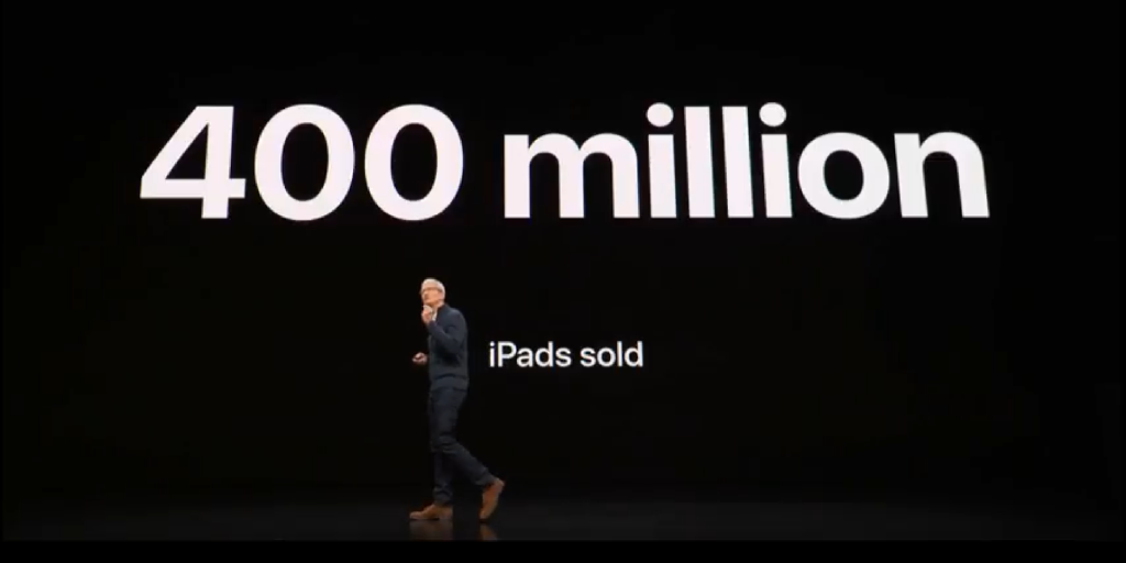 Apple has sold 400 million iPads to date