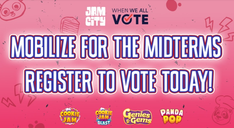 Jam City encourages mobile gamers to vote in midterm