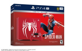 The Spider-Man PlayStation 4 Pro in all its gaudy glory.