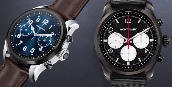 The Montblanc Summit 2 smartwatch.