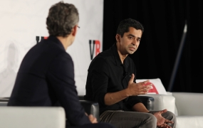 Pandora director of data science Sid Patel speaks with VentureBeat founder Matt Marshall onstage at VB Summit held Mill Valley, California